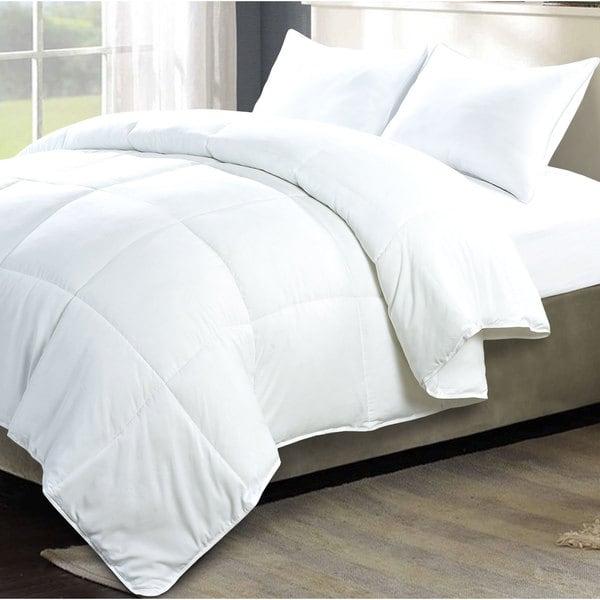 Serenta Down Alternative 3-piece White Comforter Set