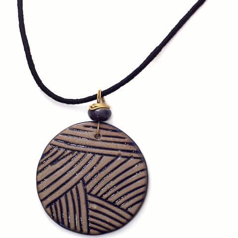 Handmade Ocean Circle Necklace (India)