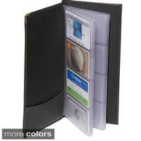 Royce Leather 96-capacity Business Card File