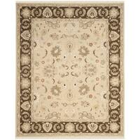 Safavieh Hand-Woven Sumak Ivory/ Brown Wool Rug - 6' x 9'