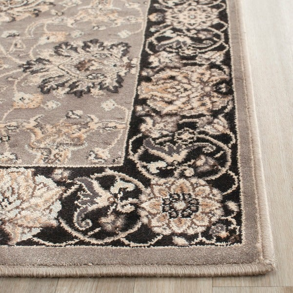 Safavieh Persian Garden Grey/ Black Viscose Rug (6'7 x 9'2)