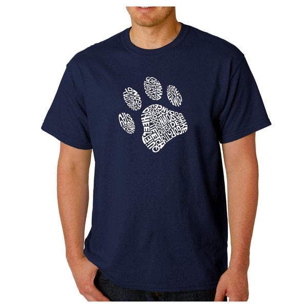 Mens Los Angeles Pop Art Dog Paw T-Shirt