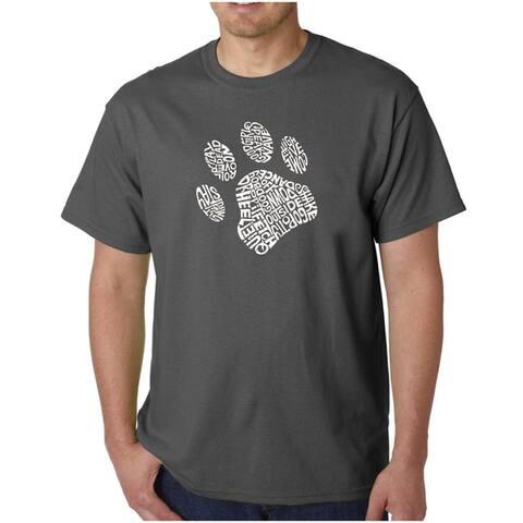Men's Los Angeles Pop Art Dog Paw T-Shirt