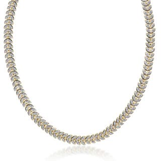Finesque Gold Overlay 1/10ct TDW Diamond Leaf Necklace https://ak1.ostkcdn.com/images/products/10059477/P17204812.jpg?impolicy=medium