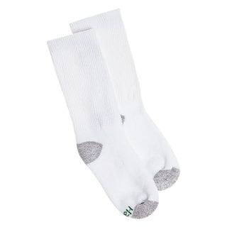 Hanes Boys Crew ComfortBlend Assorted White Socks (Pack of 6)