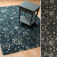 Transitional Floral Lace Vintage Glam Rug - 12' x 15'