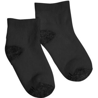Hanes Boys Ankle ComfortBlend Assorted Black Socks (Pack of 6)