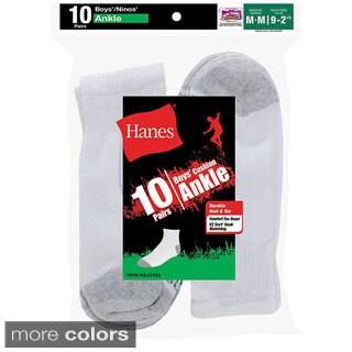 Hanes Boys' Ankle EZ Sort Socks (Pack of 10)