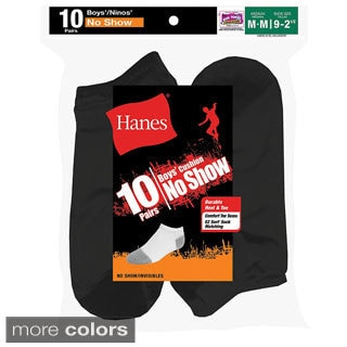 Hanes Boys' No-Show EZ Sort Socks (Pack of 10)