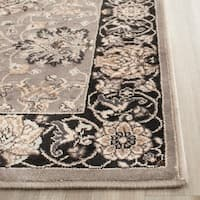 Safavieh Persian Garden Grey/ Black Viscose Rug - 4' x 5'7