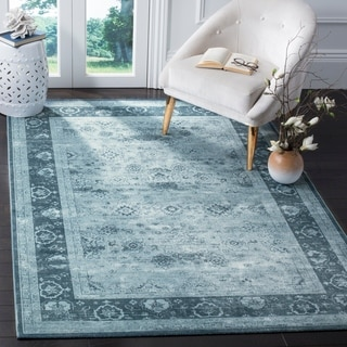 Safavieh Vintage Oriental Light Grey/ Dark Grey Distressed Silky Viscose Rug (5'1 x 7'6)