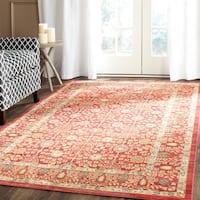Safavieh Valencia Red Distressed Silky Polyester Rug - 4' x 6'