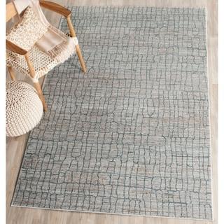 Safavieh Valencia Grey/ Multi Distressed Silky Polyester Rug (4' x 6')