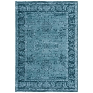 Safavieh Vintage Distressed Boho Joninna Oriental Rug (4 x 57 - Light Blue/Dark Blue)