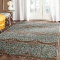 Safavieh Valencia Brown/ Alpine Distressed Silky Polyester Rug - 4' x 6'