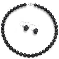 DaVonna Sterling Silver Round 10mm Black Onyx Jewelry Set