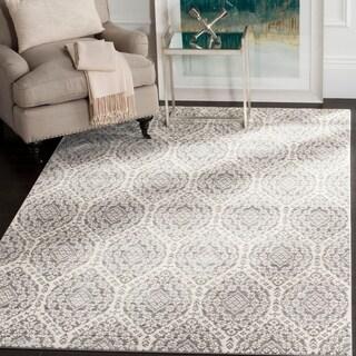 Safavieh Valencia Mauve/ Cream Distressed Silky Polyester Rug (5' x 8')