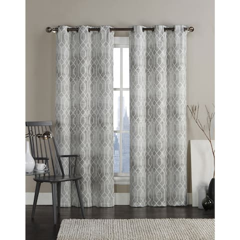 """VCNY Andreas Grommet Top 96-inch Curtain Panel Pair - 38"""" x 96"""""""