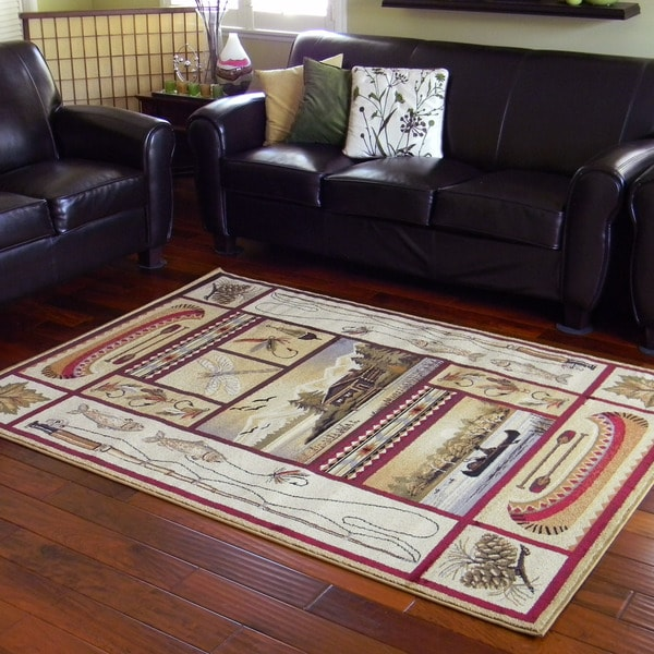 Dragonfly Design Beige Area Rug 5 X7 Free Shipping