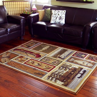 Lodge Design Camel Area Rug (5'x7')