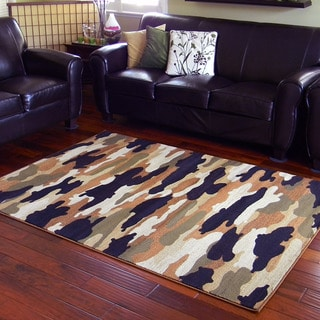 Camouflage Design Multi Area Rug (5'x7')