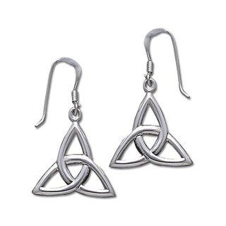 Sterling Silver Celtic Trinity Knot Triquetra Dangle Earrings