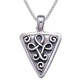 Carolina Glamour Collection Sterling Silver Celtic Knot Triangle Necklace