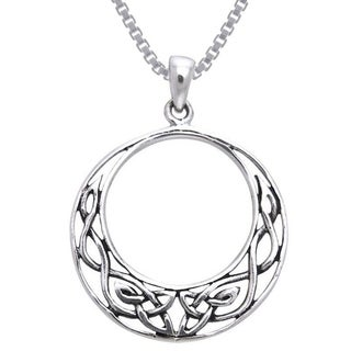 Carolina Glamour Collection Sterling Silver Celtic Knot Work Round Necklace