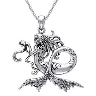 Sterling Silver Sea Mermaid Necklace