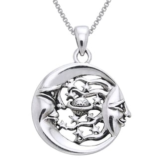 Carolina Glamour Collection Sterling Silver Celestial Necklace