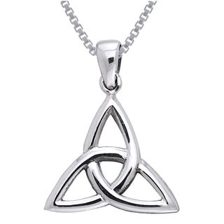 Sterling Silver Celtic Triquetra Trinity Knot Necklace