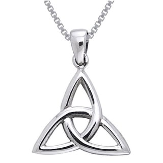 Carolina Glamour Collection Sterling Silver Celtic Triquetra Trinity Knot Necklace