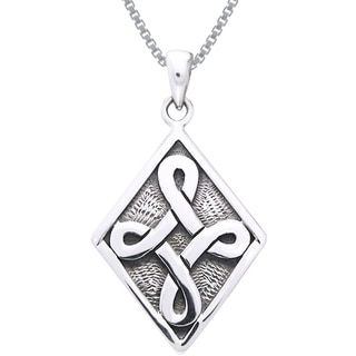 Carolina Glamour Collection Sterling Silver Celtic Strength Knot Necklace