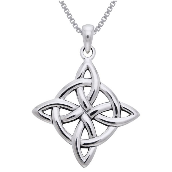 Shop Sterling Silver Celtic Good Luck Knot Necklace Free Shipping