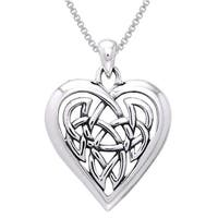 Sterling Silver Celtic Knot Eternal Heart Necklace