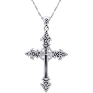 Sterling Silver Gothic Celtic Cross Necklace