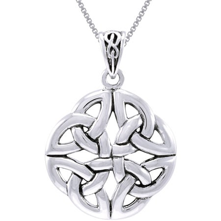 Sterling Silver Celtic Trinity Quadrata Necklace