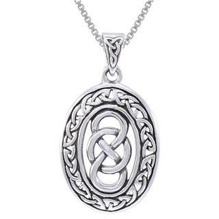 Sterling Silver Celtic Infinity Knotwork Necklace