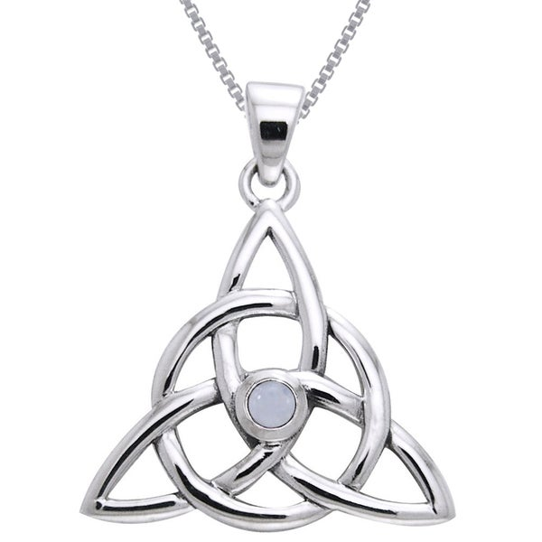 Shop Sterling Silver and Moonstone Celtic Triquetra ...
