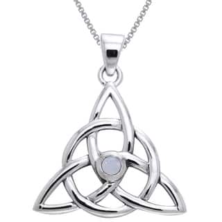 Sterling Silver and Moonstone Celtic Triquetra Necklace|https://ak1.ostkcdn.com/images/products/10059766/P17205077.jpg?impolicy=medium