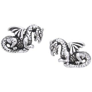 Sterling Silver Petite Winged Dragon Post Earrings|https://ak1.ostkcdn.com/images/products/10059782/P17205090.jpg?impolicy=medium