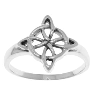 Carolina Glamour Collection Sterling Silver Celtic Quaternary Knot Good Luck Ring