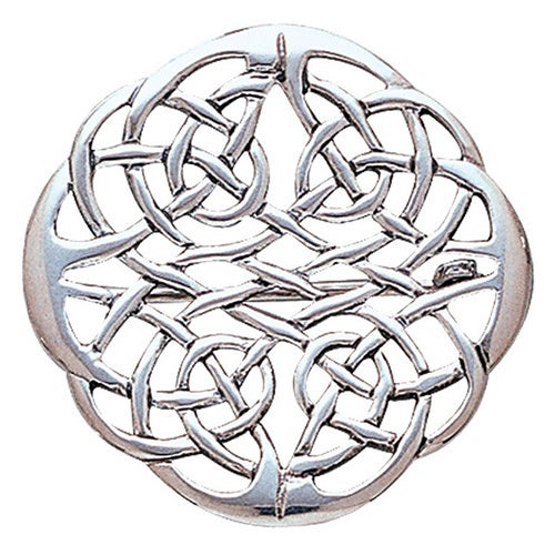 69691d0b884 Shop Sterling Silver Elegant Celtic Knot Work Round Brooch Pin - Free  Shipping On Orders Over  45 - Overstock - 10059795