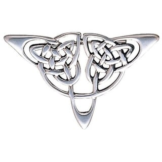 Sterling Silver Celtic Triangle Knot Brooch Pin