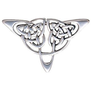Carolina Glamour Collection Sterling Silver Celtic Triangle Knot Brooch Pin|https://ak1.ostkcdn.com/images/products/10059796/P17205104.jpg?impolicy=medium