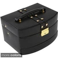 Bey Berk 'Stella' Studded Leather Multi-Level Jewelry Box
