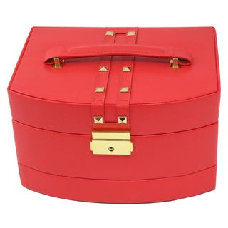 Bey Berk 'Stella' Studded Leather Multi-Level Jewelry Box