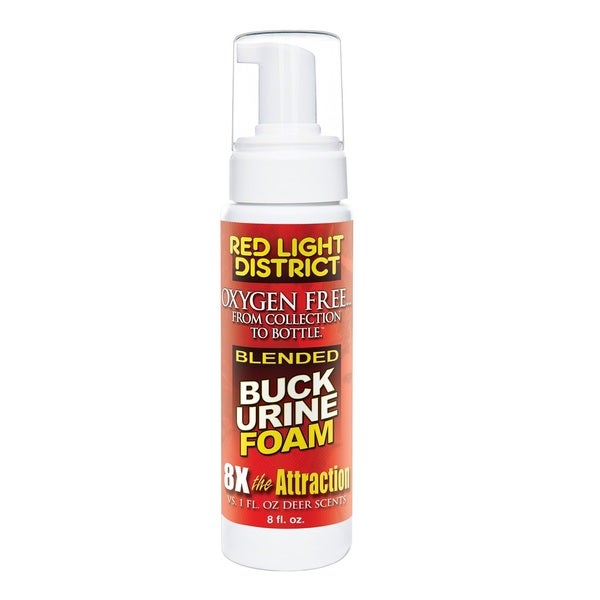 Red Light District Buck Urine Blended Foam Deer Scent 8-ounce
