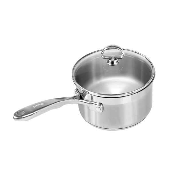 chantal steel induction 2quart saucepan with glass lid