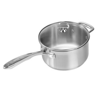 Chantal Steel Induction 3.5-quart Saucepan with Glass Lid
